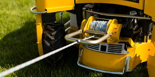 Spider 2sgs mower hydraulic winch close up