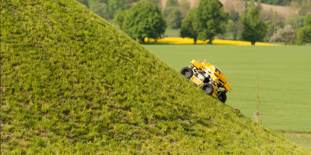 spider climbing steep hill